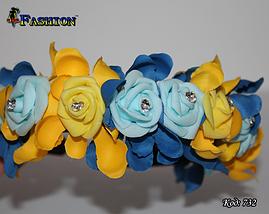 Жовто-блакитний обруч зі стразами Незалежність, фото 2