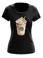 Футболка женская с рисунком Starbucks coffee