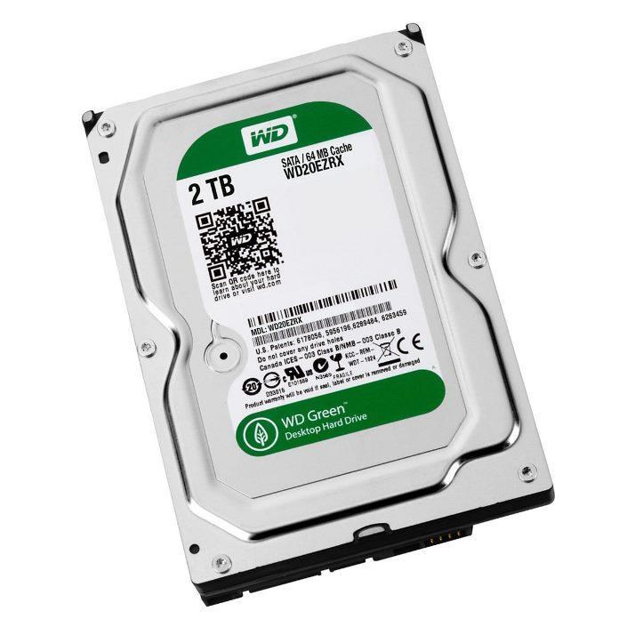 "Жесткий диск Western Digital Green 2TB 5400rpm 64МB WD20EZRX 3.5 SATA III ""Over-Stock"" Б/У"