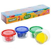 Тесто для лепки волшебный пластилин 0232 (пластилин для лепки): 4 цвета