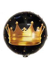 Шар фольгированный круглый Корона