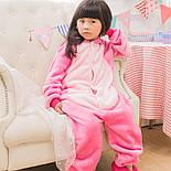 (130, 140 см) Детский кигуруми розовый стич v122, фото 3