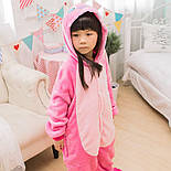 (130, 140 см) Детский кигуруми розовый стич v122, фото 4