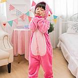 (130, 140 см) Детский кигуруми розовый стич v122, фото 7