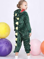 (110, 120, 130, 140 см) Детский кигуруми зеленый дракон v129