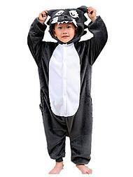 Детский кигуруми волк серый v130