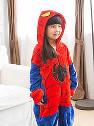 (110, 120, 130, 140 см) Детский кигуруми спайдер мэн - человек паук v137