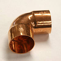 5090 Колено (медь) 2 муфты 90 градусов SANHA 18