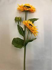 Искусственный подсолнух.Подсолнух для вазы, фото 3