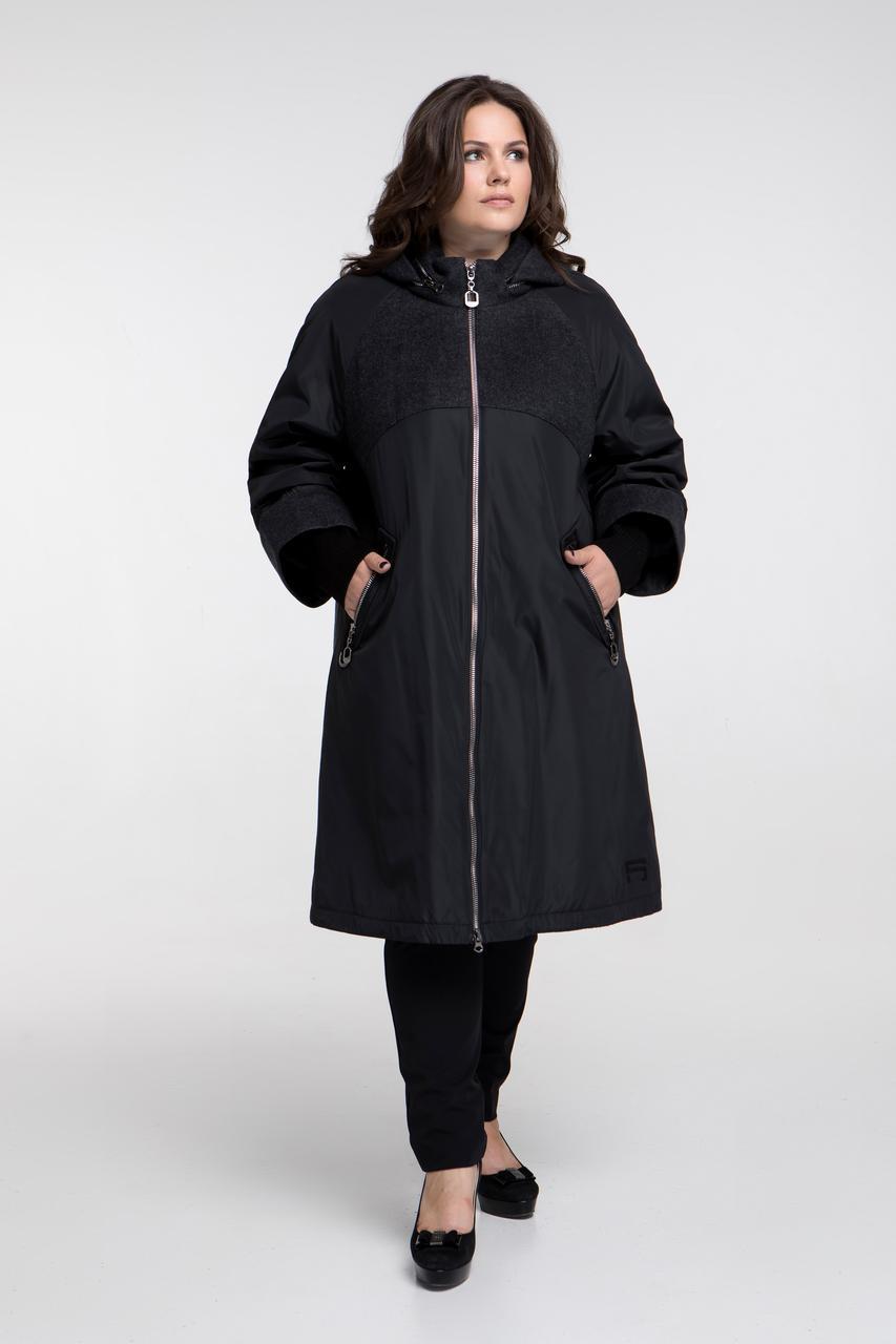 e7c140e1cb5 Демисезонное женское пальто Riches 676 (куртка) Большие размеры 48-72 -  Интернет-