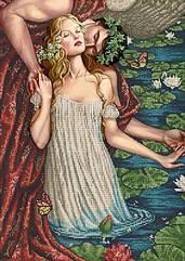 Схема для вышивки бисером Поцелуй ангела