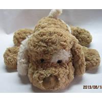 Мягкая игрушка Grand СОБАКА (коричневая,белое ухо, 48см)