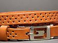 Ремень женский кожаный Svetlana Zubko 3F15427 рыжий 130х1,5 см, фото 2