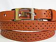 Ремень женский кожаный Svetlana Zubko 3F15427 рыжий 130х1,5 см, фото 3