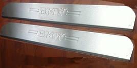 Накладка на пороги (2 шт, Carmos) - BMW 5 серия E-39 1996-2003 гг.