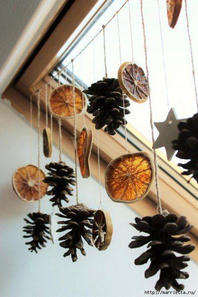 идеи украшения дома к новому году