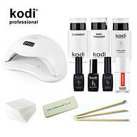 Стартовый набор гель лаков Kodi  c UV LED лампа SUN5 48 Вт. № 25