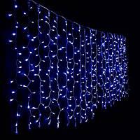 """Гирлянда уличная штора """"Занавес"""" 3м*1,5м IP-44, 288 LED, синяя с мерцанием"""
