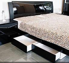 Спальня Черный Бриллиант (Черный) (1,80 м.) с подъемным механизмом (раскомплектовуется), фото 3