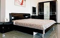 Спальня Черный Бриллиант (Черный) 1,80 м. с шухлядами (раскомплектовуется)