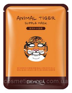 Маска-салфетка в виде животных BIOAQUA – Тигр