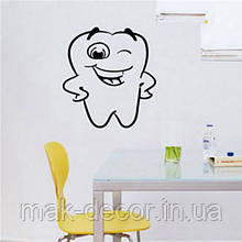 Виниловая наклейка  -  Счастливый зуб 50х54 см