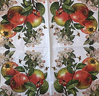 "Салфетка декупажная 33x33 см 29 "" Три яблока """