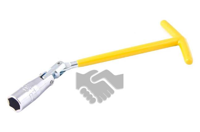 Свечной ключ Т-образный с шарниром Mastertool - 16 x 250 мм, фото 2