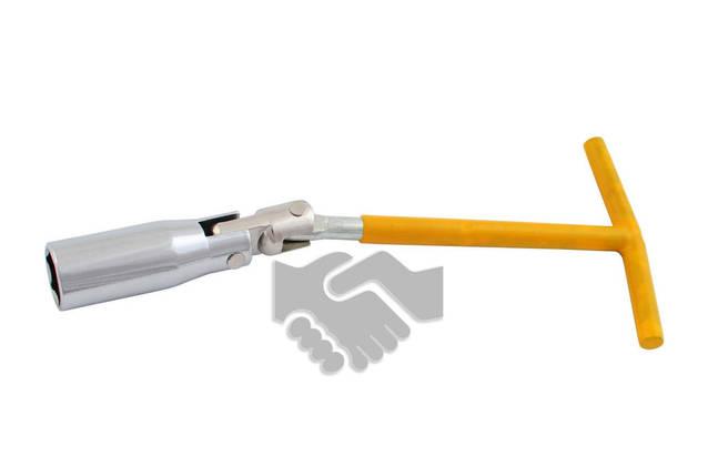 Свечной ключ Т-образный с шарниром Intertool - 16 мм, фото 2