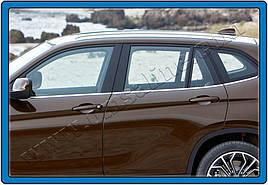 Нижні молдинги стекол (нерж.) 6 шт. - BMW X1 E-84 2009-2015 рр.