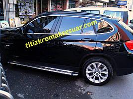 Повна окантовка вікон (нерж.) 12 шт. - BMW X1 E-84 2009-2015 рр.