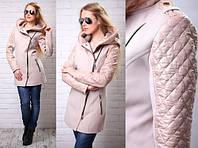 """Женское пальто """"Зара"""" с капюшоном, фото 1"""