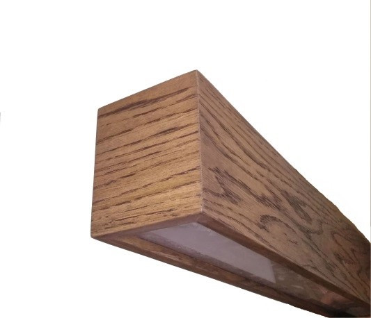 фото світильника з дерева Інтер'єрний світлодіодний світильник в дерев'яному корпусі INF-LWD-WOOD-40W-2000 40W IP20 2000 мм