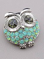 061526 Брошь Фианит с натуральными камнями.