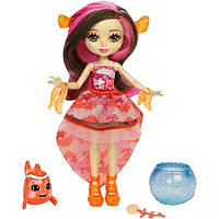 Enchantimals Кукла Энчантималс Кларита с рыбкой клоуном, меняет цвет волос Clarita Clownfish s Fashion Dolls