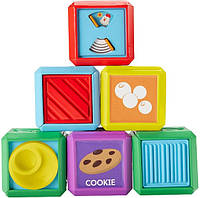 Fisher-Price Сенсорные кубики Laugh & Learn First Words Food Blocks, фото 1