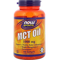 NOW MCT Oil 150 softgels, НАУ МСТ Оил 150 капсул