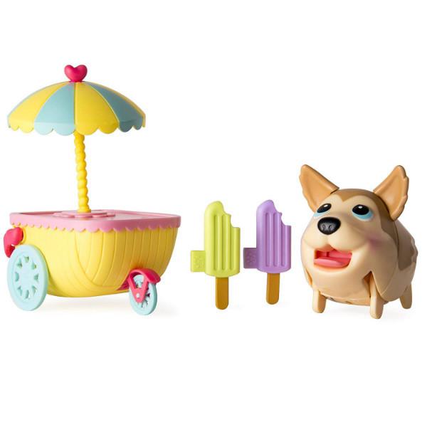 Chubby Puppies чубби упитанные щенки Хаски продавец мороженного Friends Husky Ice Cream Cart