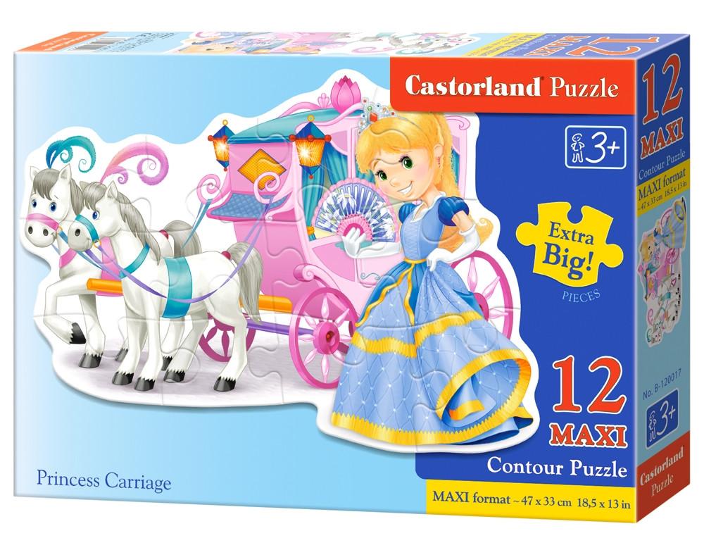 "Пазлы Castorland B-120017 ""Экипаж для принцессы"" на 12 элементов (B-120017)"