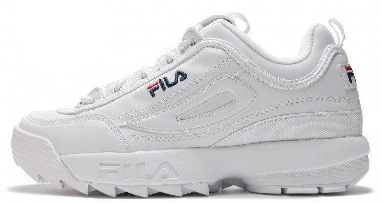 Женские зимние кроссовки FILA Disruptor II FUR (в стиле Фила Дизраптор 2)  белые d73cdd5774321