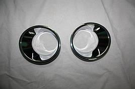 Накладки на противотуманки дорестайл (2 шт, пласт) - BMW X5 E-53 1999-2006 гг.