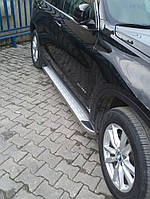 Боковые площадки MsLine Omsa (2 шт, алюм.) - BMW X5 E-70 2007-2013 гг.
