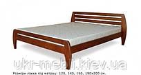 Ліжко 2х спальне Віка 160*200 з дерева, масив