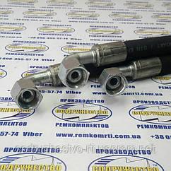 Рукав высокого давления РВД S22 (М22 х 1,5) L-0,8 м с углом 90 градусов ( Н.036.84 (давление-215 Бар) )