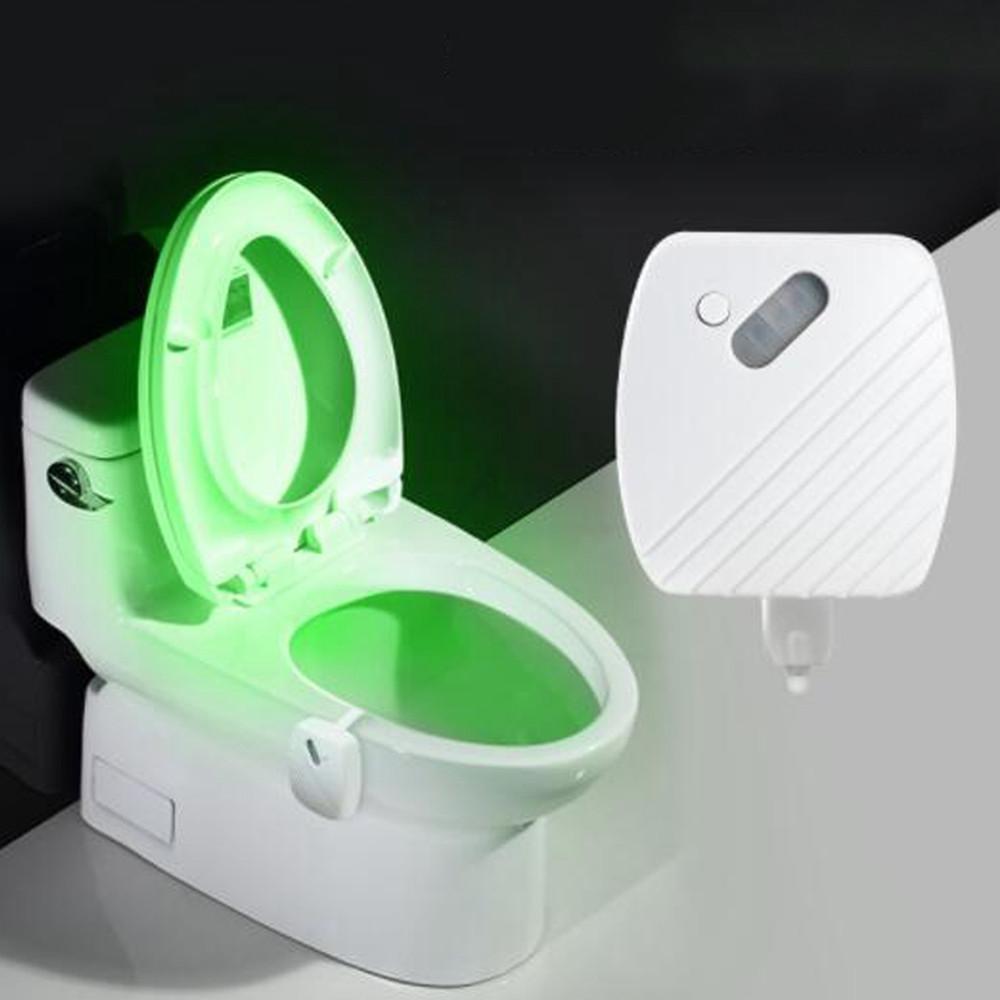 24 Colors Motion Датчик LED Night Light Bowl для туалета Ванная комната Лампа - 1TopShop