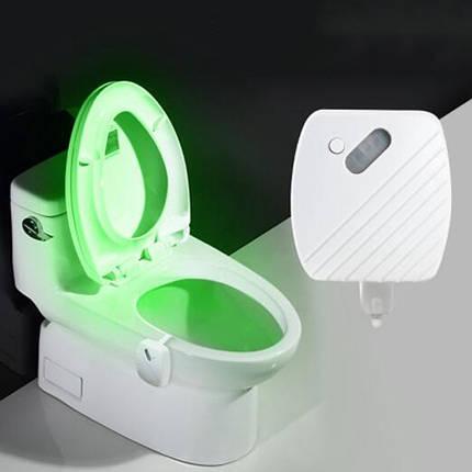 24 Colors Motion Датчик LED Night Light Bowl для туалета Ванная комната Лампа - 1TopShop, фото 2