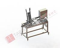 Полуавтоматическая машина ЧПА-1500 для фасовки жидких и вязких продуктов в упаковку типа ЧАБ