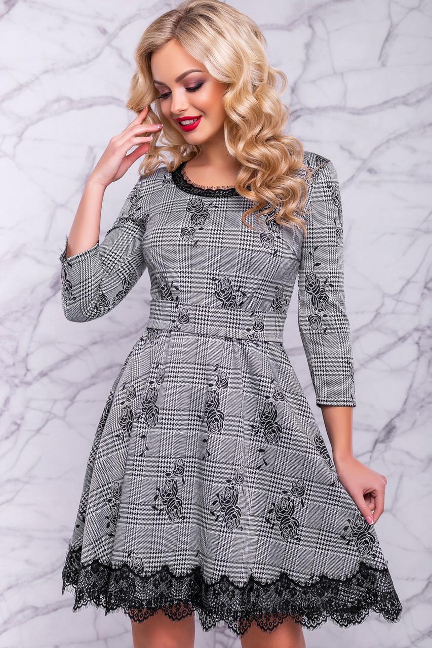 981a67d023e Очаровательное женское платье (трикотаж принт