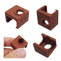 3шт MK10 Цвет кофе Силиконовый Защитный Чехол для нагрева алюминиевого блока 3D-принтер Часть Hotend - 1TopShop