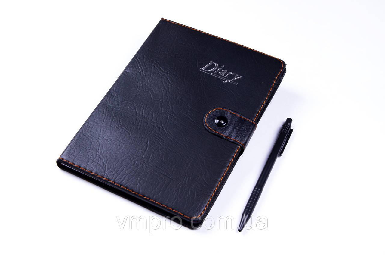 Блокнот в клетку с ручкой, на кнопке (14×19,5 см), 78 лис. №8832-32K, записная книжка